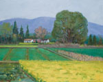 molici originals landscape the village is green again 2015 painting