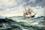 montague dawson original paintings - a ship in stormy seas by montague dawson