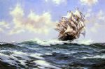 montague dawson original paintings - sun flecked foam the barnabas webb of thomaston by montague dawson