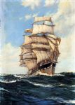the clan mcfarlane on high seas by montague dawson painting