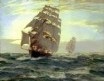 the flying cloud by montague dawson painting