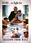 norman rockwell famous paintings - freedom from want 1943 by norman rockwell