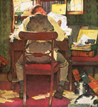eveningpost by norman rockwell painting