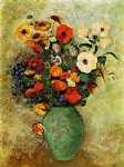 odilon redon bouquet of flowers in a green vase painting-28516