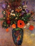 odilon redon bouquet of flowers in a vase painting-28517