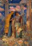 mystical conversation by odilon redon art