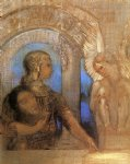 mystical knight by odilon redon watercolor paintings