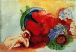nude begonia and heads by odilon redon art