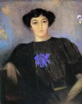 odilon redon portrait of madame gustave fayet painting-28619