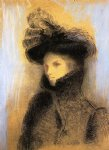 odilon redon portrait of marie botkine painting-28624