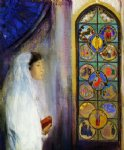 odilon redon portrait of simone fayet in holy communion painting-28627