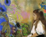 odilon redon portrait of yseult fayet painting-28632