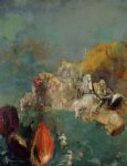 dragon acrylic paintings - saint george and the dragon by odilon redon