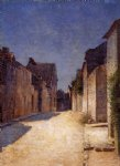 street original paintings - street in samois by odilon redon