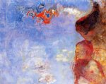 angel watercolor paintings - the fallen angel by odilon redon