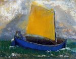 odilon redon the mysterious boat ii painting 28679