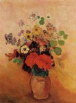 odilon redon vase of flowers viii painting
