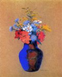 wild flowers in a vase by odilon redon painting