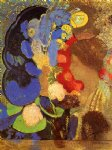 woman among the flowers by odilon redon painting