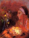 odilon redon woman with flowers ii painting 28745