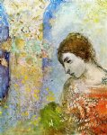 odilon redon woman with pillar of flowers painting 28747