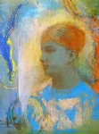 young girl facing left by odilon redon painting