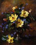 original a bunch of flowers in a vase painting 28243
