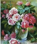 original a bunch of roses in a glass by original paintings painting