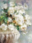 flower artwork - a bunch of white flowers by original paintings