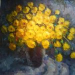 original a bunch of yellow flowers painting 28251