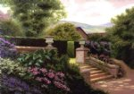 original a corner of a garden painting 28479