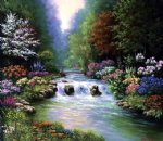 original paintings a stream in the jungle painting