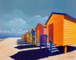 sea watercolor paintings - cabins by the sea by original paintings