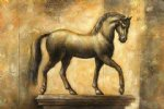 original paintings golden horse painting