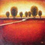 original paintings highroad by a reddish field oil paintings