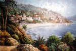 original paintings original paintings - mediterranean scenery the coast starlight by original paintings