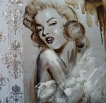 original paintings portrait of marilyn monroe 2 painting