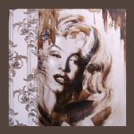 original paintings portrait of marilyn monroe art