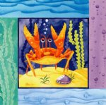sea watercolor paintings - sea crab by original paintings