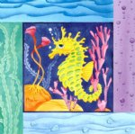 sea watercolor paintings - sea horse by original paintings