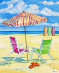 original paintings summer beach 3 art