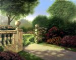 original the gate of a park by original paintings