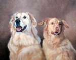 original two collies by original paintings