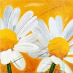 original paintings two white chrysanthemums painting