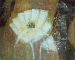 flower artwork - white flower fan by original paintings