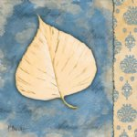original white poplar leaf by original paintings