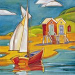 original paintings famous paintings - yacht and cabins by original paintings