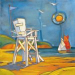 original yacht in the sun by original paintings
