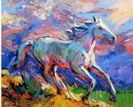 original   abstract a horse 10 painting