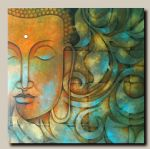 original   abstract buddha painting